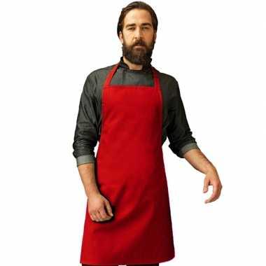 Barbecue keukenschort volwassenen rood