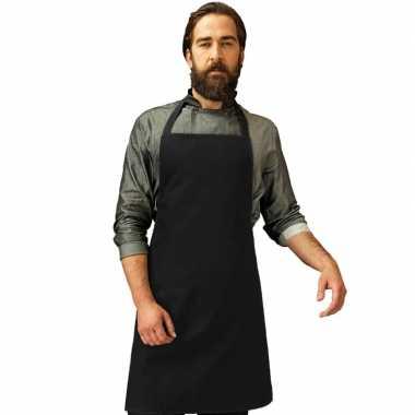Barbecue keukenschort volwassenen zwart