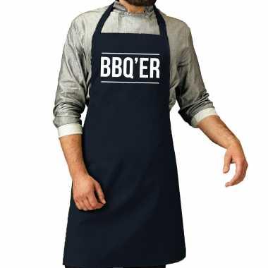 Bbq er barbecuekeukenschort heren navy