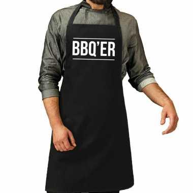 Bbq er barbecuekeukenschort heren zwart