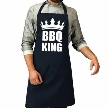 Bbq king barbeque keukenschort / keukenschort navy heren