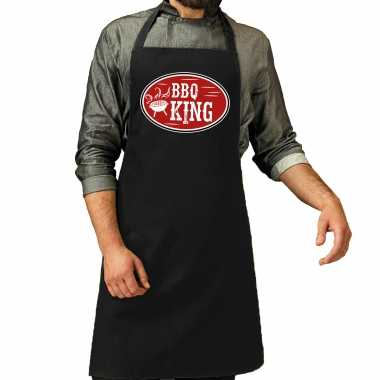 Bbq king cadeau keukenschort zwart heren