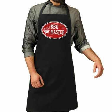 Bbq master cadeau barbecue keukenschort zwart heren