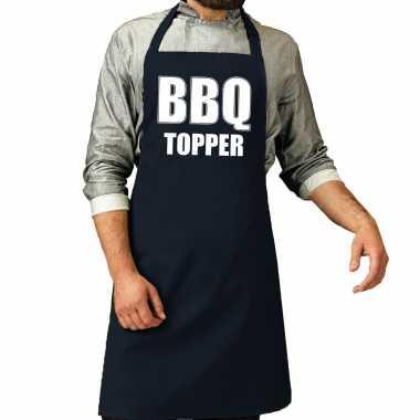 Bbq topper barbecuekeukenschort heren navy