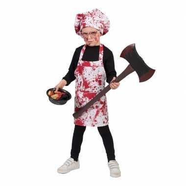 Bloederig keukenschort koksmuts kinderen