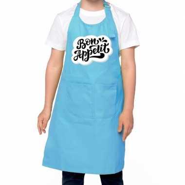 Bon appetit keukenschort blauw kinderen