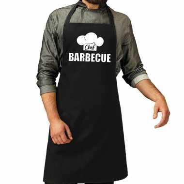 Chef barbecue keukenschort / keukenschort zwart heren