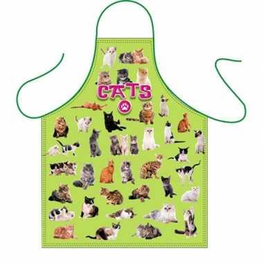 Dieren keukenschort katten thema