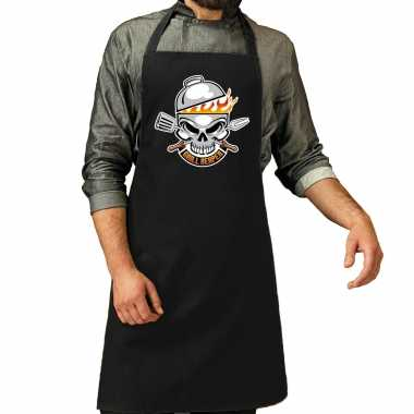 Grill reaper bbq keukenschort / keukenschort zwart heren
