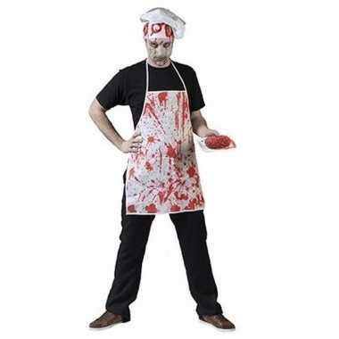 Halloween horror keukenschort bloedspetters