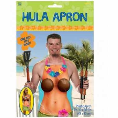 Hula keukenschort tropische dame