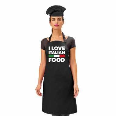 I love italian food keukenschort dames