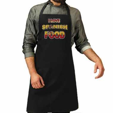 I love spanish food barbecue/keuken keukenschort zwart heren
