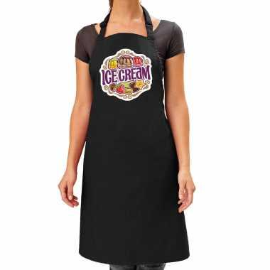 Ice cream keukenschort / keukenschort zwart dames