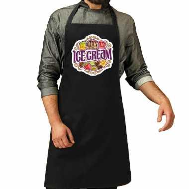 Ice cream keukenschort / keukenschort zwart heren of dames