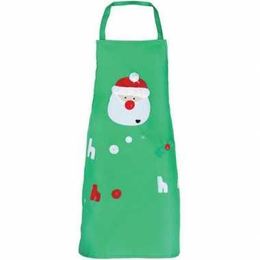 Kerst groen kerst keukenschort kinderen