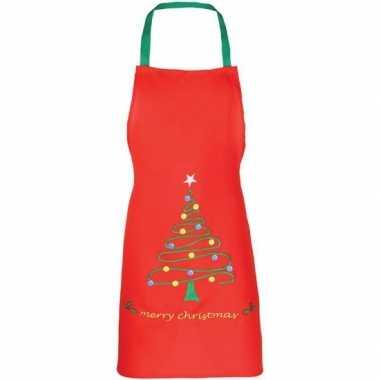 Kerst rood kerst keukenschort kinderen