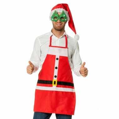 Kerstkleding keukenschort kerstman