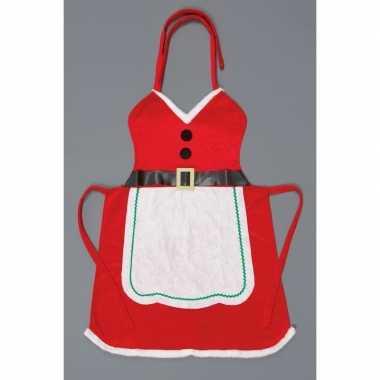 Kerstvrouw keukenschort