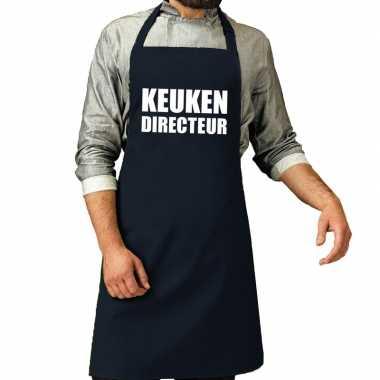 Keuken directeur barbeque keukenschort / keukenschort navy heren
