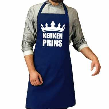 Keuken prins barbeque keukenschort / keukenschort kobalt heren
