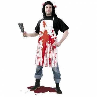 Keukenschort bloed