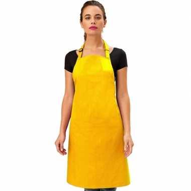 Keukenschort geel volwassenen