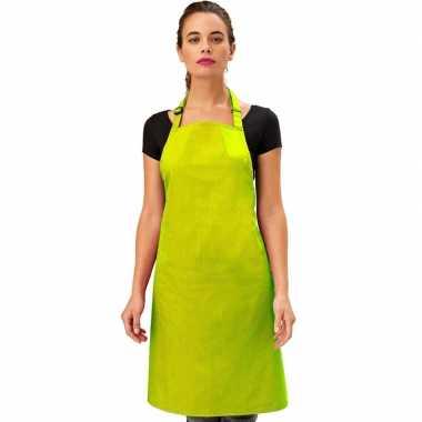 Keukenschort lime volwassenen