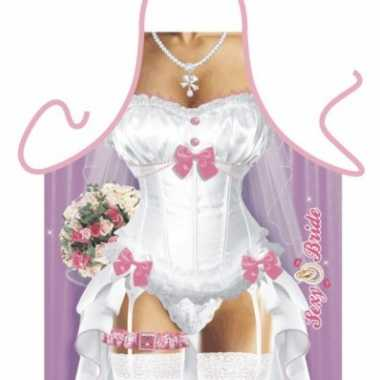 Keukenschort sexy bruid