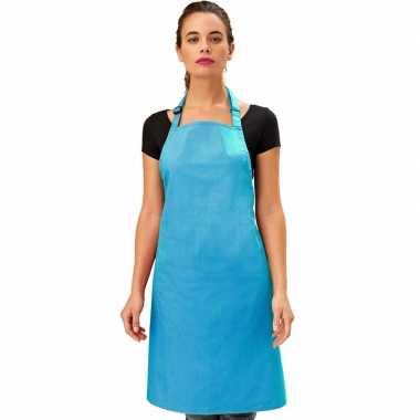 Keukenschort tuquoise volwassenen