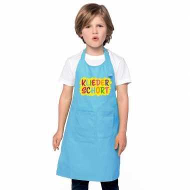 Kliederkeukenschort blauw kinderen