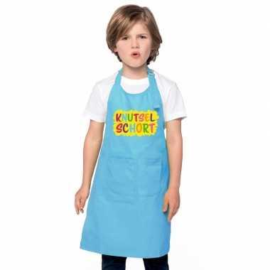 Knutselkeukenschort blauw kinderen