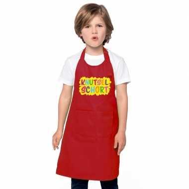Knutselkeukenschort rood kinderen