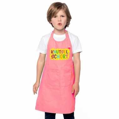 Knutselkeukenschort roze kinderen