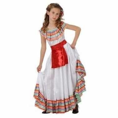 Mexicaans meisje kostuum rood keukenschortje