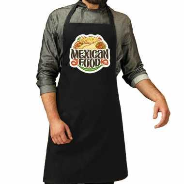 Mexican food keukenschort / keukenschort zwart heren of dames