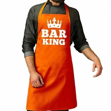Oranje bar king keuken keukenschort heren