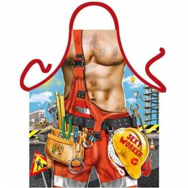 Sexy keukenschort bouwvakker
