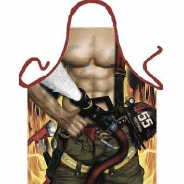 Sexy keukenschort brandweerman