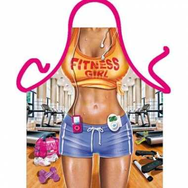 Sexy keukenschort fitness vrouw