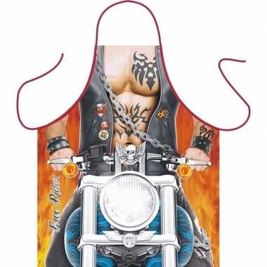 Sexy keukenschort motor man