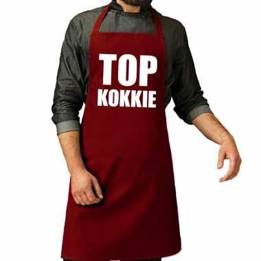 Top kokkie barbeque keukenschort / keukenschort bordeaux rood her