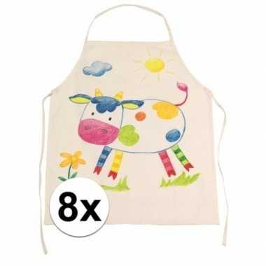 X onbedrukt keukenschort kinderen
