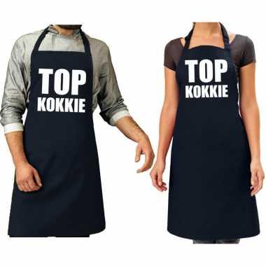 X top kokkie cadeau keukenschort navy or dames heren