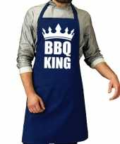 Bbq king barbeque keukenschort keukenschort kobalt blauw heren