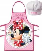 Disney minnie mouse keukenschort koksmuts kinderen