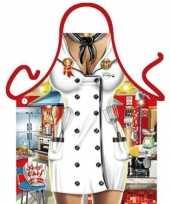 Sexy keukenschort chef kok