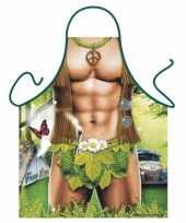 Sexy keukenschort hippie man