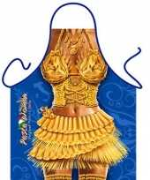 Sexy keukenschort pasta vrouw