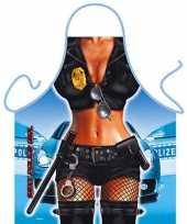 Sexy keukenschort politie vrouw
